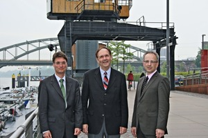 Dr. Conrad Mauritz, Dipl.-Ing, Dipl.-Kfm. Michael W. Rokitta, Dipl.-Ing. Markus Buscher (from left to right)<br />