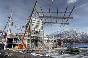 """<div class=""""bildtext"""">2 The scope of delivery also included the entire steel structure</div>"""