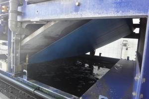 Für schwer entwässerbare Schlämme wird die Bandgeschwindigkeit etwas erhöht und die gesamte Bandbreite des GKD-Siebbands genutzt