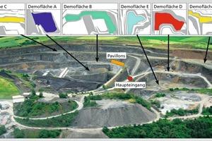 """<span class=""""bildunterschrift_hervorgehoben"""">1</span>Der Messesteinbruch wird sich für die steinexpo 2014 erheblich verändern • The quarry fairgrounds for the steinexpo 2014 will change considerably"""