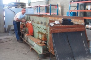 Screening machine manufactured in 1940 before (a) and after (b) overhaul<br />