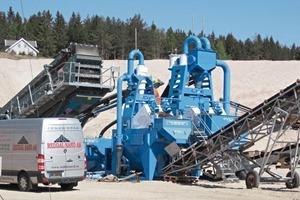 Die neue Sandwaschanlage bei Reddal Sand einschließlich Evowash 71 und Evowash 151 # The new sand washing plant at Reddal Sand including the Evowash71 and Evowash151