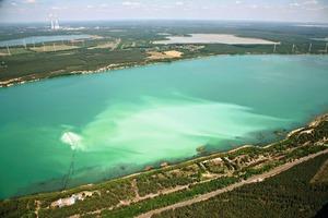 Luftaufnahme Scheibesee # View from the air: Scheibesee