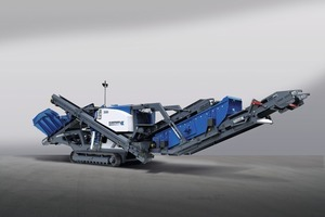 "<div class=""bildtext"">1	Der neue mobile Kegelbrecher MOBICONE MCO 9 S EVO wird auf der Steinexpo erstmals vorgestellt<br />The new mobile cone crusher MOBICONE MCO 9 S EVO will be showcased for the first time at Steinexpo</div>"