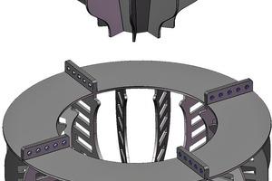 """<div class=""""bildtext"""">Schematische Darstellung der neuen Rotor/Stator-Konstruktion vom Typ nextSTEP<sup>TM</sup> • Schematic of the new nextSTEP™ rotor/stator</div>"""
