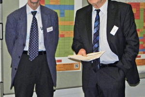 """<div class=""""bildtext"""">Hermann Heilmeier with&nbsp; Prof. Dr.-Ing. habil. Eberhard Gock, chairperson, r<sup>3</sup> Research and Development results</div>"""
