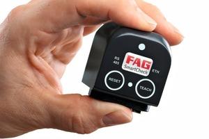 1 Der FAGSmartCheck mit geringen Abmessungen von nur ca. 44mmx58mmx45mm # The FAGSmartCheck with minimal dimensions of only 44mmx58mmx45mm