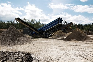 2 Mobiscreen MS 19 Z: Einsetzbar im Naturstein und im Recycling mit einer Leistung von bis zu 500 t/h # Mobiscreen MS 19 Z: Can be used in natural stone applications and in recycling with an output of up to 500 t/h