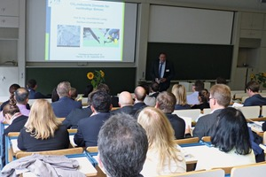 1 Prof. Dr.-Ing. Michael Ludwig, Bauhaus University of Weimar, spoke on CO<sub>2</sub>-reduced cements for sustainable concrete