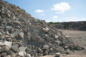 Crushed concrete from prefabricate buildings<br />