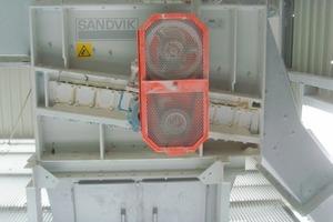 The Sandvik SR roller screen in action<br />