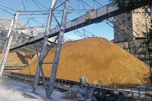 """<div class=""""bildtext"""">6 The conveyor transports the bulk solids from the bridge belt in the direction of waggon loading</div>"""