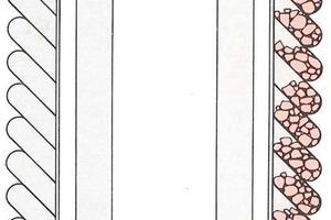 """<span class=""""bildunterschrift_hervorgehoben"""">1</span>Zeichnung: Vollgummigurttaschen in einem Stetigförderer<br />"""