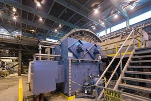 1 Doppelritzel-SAG-Mühle von ABB • ABB's dual pinion semi-autogenous mill<br />