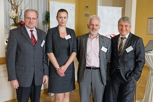 "<div class=""bildtext"">4 Group photo with the lecturers: Bert Vulpius, Managing Director of the EAMBMI, lawyer Sabrina Nowak, Thomas O. Brand, Dipl.-Min. Markus Schumacher (from left to right)</div>"