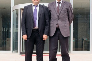 """<div class=""""bildtext"""">General Manager, Ramazan Ergin (left), and National Sales Manager, Alper Sahin, in front of the office building and corporate headquarters in Istanbul</div>"""