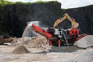 2 Der neue raupenmobile Prallbrecher QI240: Vor- und Nachbrecher in einem # The new tracked impact crusher QI240: Primary and Secondary crusher all in one