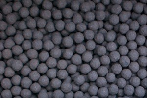 Almost monodispersed iron ore concentrate pellets<br />
