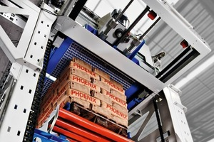 """<div class=""""bildtext"""">2Der BEUMER paletpac erstellt exakte, stabile und damit platzsparende Sackstapel • The BEUMER paletpac produces accurate, stable and therefore space-saving stacks of bags</div>"""