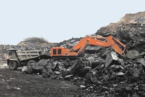 Hydraulischer Kettenbagger von Hitachi # Hydraulic track excavator from Hitachi