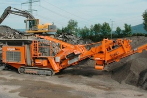 The Rockster impact crusher R900 at Nägelebau in Röthis<br />