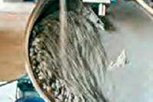 """<span class=""""bildunterschrift_hervorgehoben"""">3</span>Herstellung gipsgebundener Filterstaubpellets (Testanlage) • Pelletization of gypsum-bond fly ash (pilot plant)<br />"""