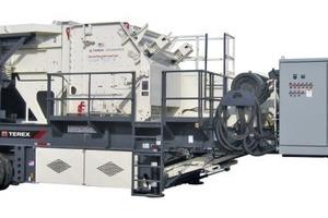Der transportable Horizontal-Prallbrecher CRH1316 von Terex • The Terex<sup>®</sup>CRH1316portable HSI plant