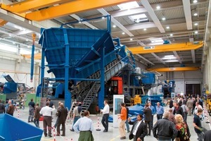 The assembly site of the 400-t mobile jaw crusher Mobicat MC 160<br />