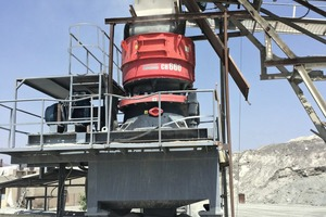"""<div class=""""bildtext"""">The CH660&nbsp;cone crusher at National Quarries</div>"""