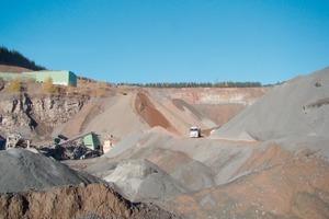 Dumps of crushed sands at a quarry<br />