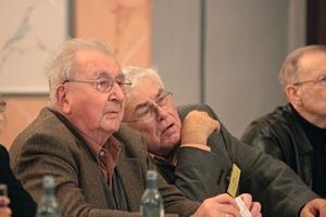Prof. Heinrich Schubert (links/left) und/and Prof. Dieter Uhlig