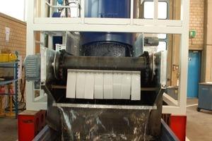 Ein HAVER Hydro-Clean<sup>®</sup> während eines Testlaufs<br />