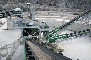 "<div class=""bildtext"">Infinity screen and 4 stockpile conveyors at Velde</div>"