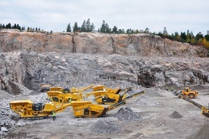 Keestrack mobile crushing and screening equipment in action<br />