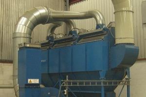 PowerCore<sup>®</sup>-Entstaubungsanlage mit 20000m<sup>3</sup>/h Durchflusskapazität im Werk Isover<br />