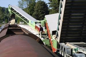 Stormajor<sup>TM</sup> providing a railcar loading facility for a silica sand quarry outside Paris<br />