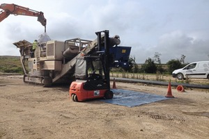 2 Mobile crushing of bulk samples, Wardell Armstrong LLP test facility/UK