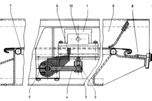 Diagram of an electromagnetic, positive drive via vibrating strip, type WA, from Rhewum<br />