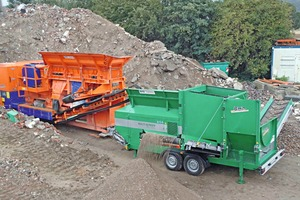 Ideale Partner für Brechen und Sieben, RA 700/6 und MS 1600 • Ideal partners for crushing and screening, the RA 700/6 and the MS 1600