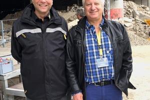 """<div class=""""bildtext"""">7Gerald Hanisch (l.) mit Jürgen Rössner, von der Leonhard Rössner Bau GmbH in Wendelstein bei Nürnberg. Er ist seit 1995 von den mobilen RM Brechanlagen überzeugt</div>"""