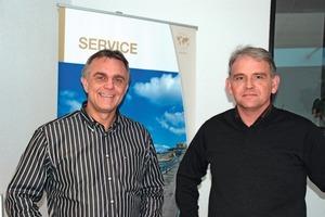 Ralf Voelz (r.) and Uwe Gemsa, Managing Director of REMA TIP TOP Material Handling GmbH <br />