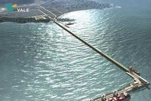 """<div class=""""bildtext"""">Die Muldengurtförderer werden das Eisenerz vom Terminal zum 3&nbsp;km entfernten Hafen transportieren • The trough belt conveyors will handle the iron ore from the terminal to the port over a distance of 3 km</div>"""