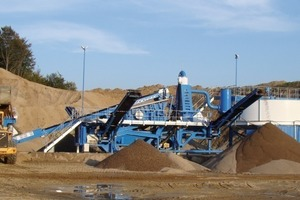 The new recycling plant at Elford Quarries<br />